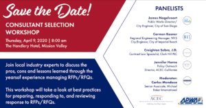 Save the Date! Consultant Selection Workshop 2020